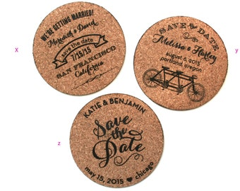 Cork Magnet and Coaster Save the Date: Perfect for a Vineyard Wedding
