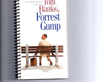 Forest Gump, Tom Hanks, Handmade, VHS Upcycled Notebook,