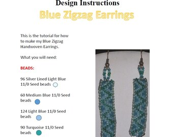 Blue Zigzag Earrings Pattern