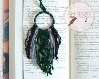 Slytherin Colors, Mini Dream Catcher, Yarn Dreamcatcher