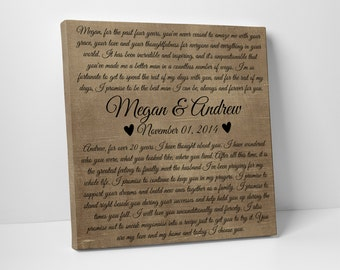 Rustic Wedding Vows Canvas