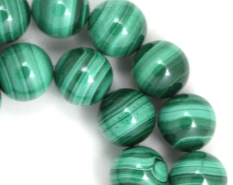 Malachite Beads - 12mm Round