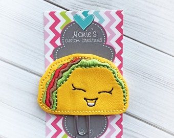Taco Paper Clip 2- Taco Bookmark - Taco Paperclip - Planner Accessories - Taco Feltie- Planner Paperclips - Tacos -Planner Accessory
