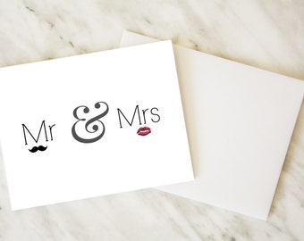 Wedding Card / Mr and Mrs Card / Funny Card / Congratulations Card / Engagement Card