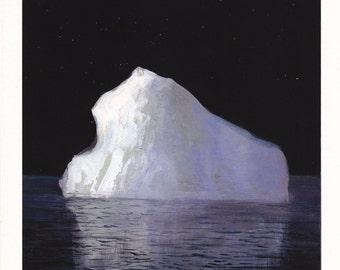 Iceberg at Night - Archival Print
