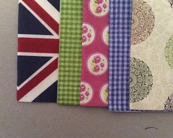 5 napkin patterns sold in sets of 4