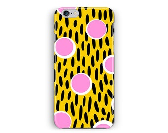 iPhone 6 case, iPhone 6S case, iphone6 case, Slim iphone 6, Geometric Phone case, Memphis Phone Case, iPhone 6s Case Hipster, pink yellow 6s