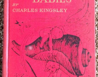 The Water Babies Book Charles Kingsley 8 color plates 1917