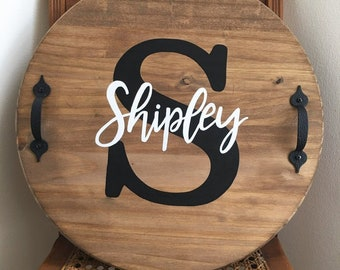 Personalized Round Tray