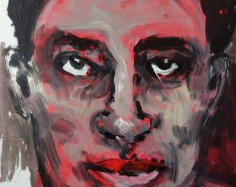 Large Modern Expressive Original Portrait - Acrylic Painting - Modern Artwork - Contemporary Artwork - Male Portrait - Canvas Art