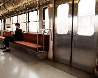 On the Train to Hikone: Metal Print Photograph