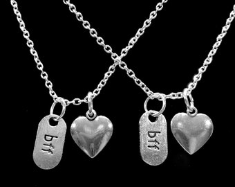 Best Friend Gift, Best Friend Necklace, Partners In Crime, BFF Necklace, Friends Sisters Gift Necklace Set