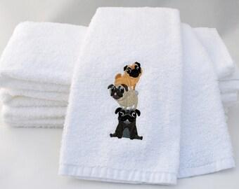 Pug lover, pug towel, pug gift, pug lover gift, pet gift for him, pet gift for her, dog towel, dog tea towel, housewarming gift