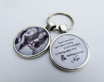 Personalized Friendship Key chain Gift Idea 'True Friendship isn't about being'