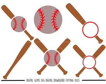 Baseball svg / dxf / eps / png files. Digital download. Compatible with Cricut, Silhouette, Scal, Scan n cut etc. Small commercial use ok.