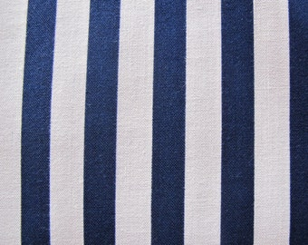 Navy & White Striped