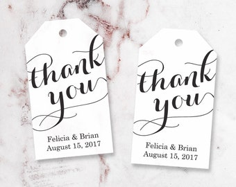 Thank You Tag - Custom Thank You Tags - Party Favor Tags - Bridal Shower Tags - Party Thank You Tags - Custom Tags - SMALL