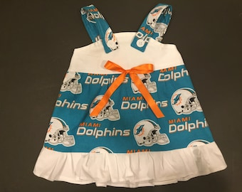 NFL Miami Dolphins Baby Infant Toddler Girls Dress  You Pick Size