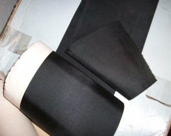 1 yd. of this black faille taffeta ribbon 5 7/8""