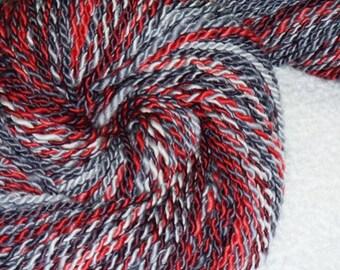 Cupid's Dilemma Handspun Art Yarn - 92 yds - 2 ply - Knitting - Crochet - Weaving - Mixed Media - Fiber Arts, etc.