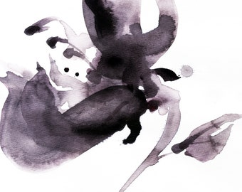Organic Impressions No. 56 ... Floral Minimalist art archival print from original painting by Kathy Morton Stanion EBSQ