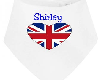 Personalized with name London baby bandana bib