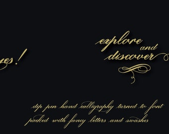 Digital Font | INSTANT DOWNLOAD  Lavenda Font  | single font file | Open Type Font (.otf)