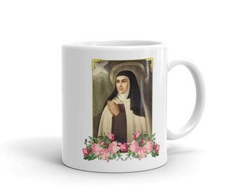 Catholic gifts - Saint Teresa of Avila ceramic mug - catholic mugs - religious gifts - St Teresa - catholic home decor