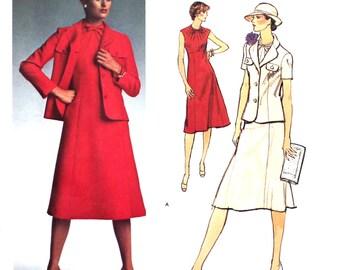 UNCUT Vogue Paris Original Dress and Jacket 1464 Bust 36 Size 14