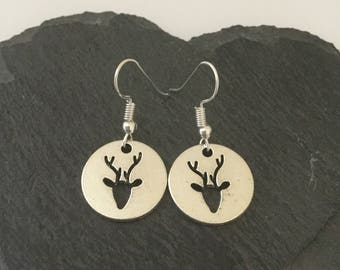 Cute reindeer earrings / reindeer jewellery / Christmas earrings / Christmas jewellery / Christmas gift / animal lover gift