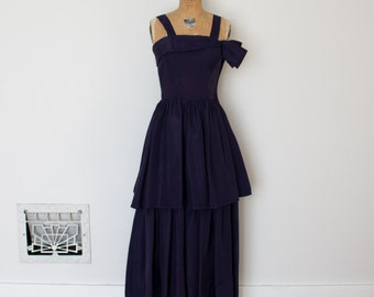 ON SALE - Vintage 1940s Dress - 40s Evening Gown - The Katharine