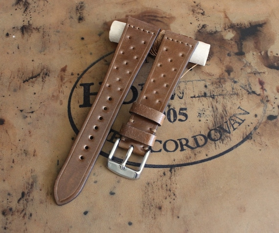 Bourbon Horween Shell Cordovan Rally watch band