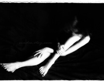 Nude Black and White Photography - Fine Art Nude Photograph - Figure Study of Arms and Legs - Nude Girl Eve - Fine Art Print
