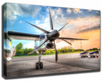 Wing Propeller Airplane Jet Canvas/Poster Wall Art Pin Up HD Gallery Wrap Room Decor Home Decor Wall Decor