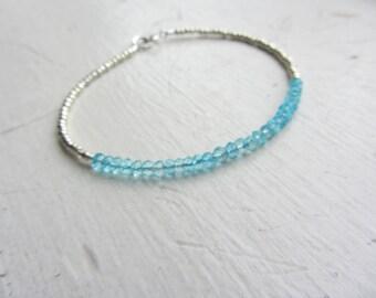 Beach Bracelet, Beaded Bracelet, Boho Chic, Boho Style, Appatite, Blue Gemstones, December Birthday.