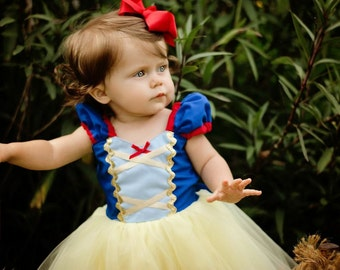 SNOW WHITE dress  Snow White  costume for girls princess  Snow White TUTU dress