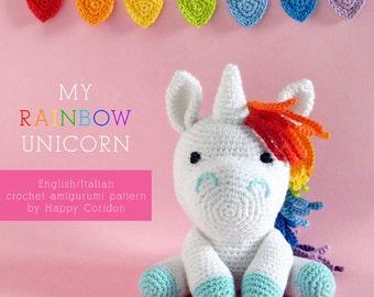 Crochet pattern - My rainbow unicorn