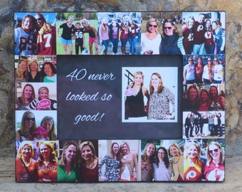 "Best Friends Photo Collage Frame, Personalized Sister Gift, 30th, 40th, 50th Birthday, Unique Maid of Honor, Bridesmaid Picture, 5"" x 7"""