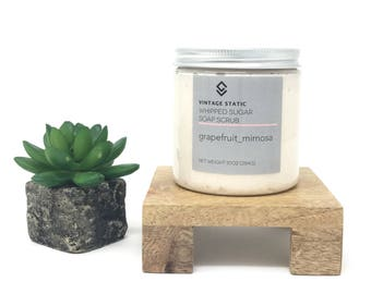Handcrafted Gentle Exfoliating Whipped Sugar Soap Scrub