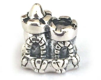 Sand Castle Sterling Silver European Bead