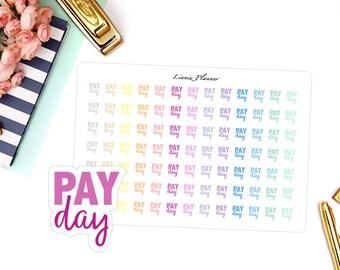 Payday Words (matte planner sticker, Erin Condren, Happy Planner, Filofax, Kikki K)