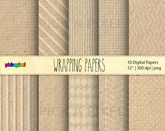 Wrapping Papers , Craft Papers - Digital Papers - Personal and Commercial Use