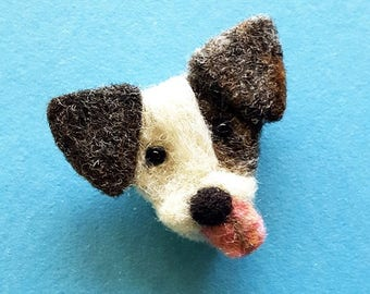 Dog pin brooch, dog mom gift, dog badge, dog lover pins for her, needle felted wool brooches, pet lover