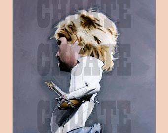 Kurt Cobain, Nirvana. Rock Poster. Art Print