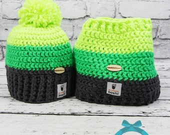 Winter cap, Winter hat, Hand-made set for the winter