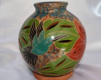 Handcrafted ceramic candleholder