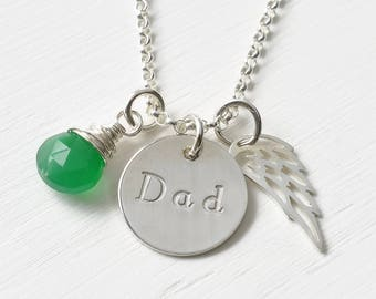 Loss of Father Sympathy Gift / Necklace for Loss of Dad / Memorial Jewelry / Sterling Silver