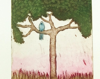 bird print, tree print, forest art print, nature wall print, bird art print, inspirational art, new life wall art, new start art