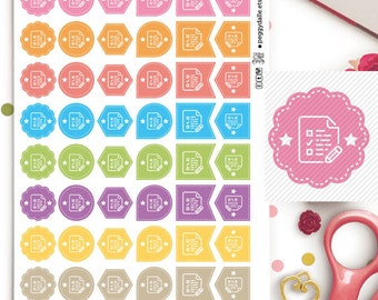 Taking Notes Assorted Shapes Planner Stickers | Study | Exam | Work | College | Class | Reminders | Hexagons