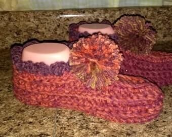 handmade crochet house slippers